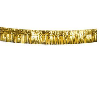 Imagens de Banner metálico flecos dorado (6m)