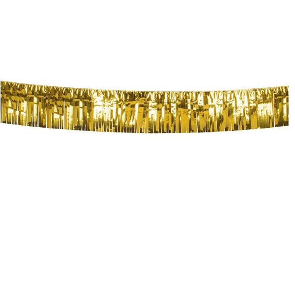 Imagen de Banner metálico flecos dorado (6m)