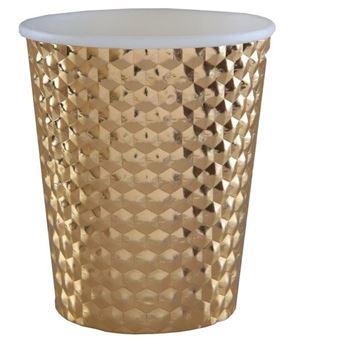 Imagens de Vasos dorados cartón metálico martillados (10)