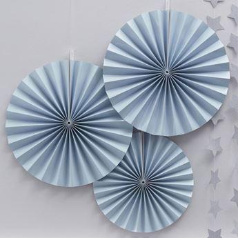 Imagen de Decorados abanicos azul pastel (3)