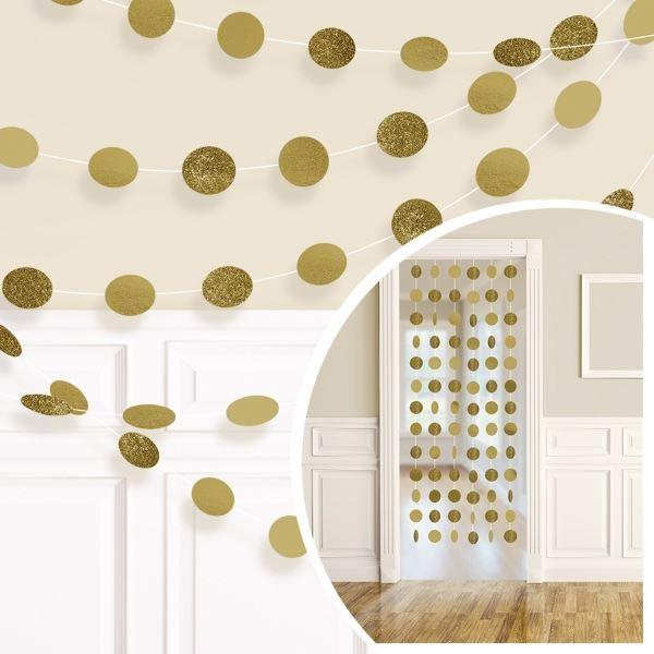 Imagen de Tiras círculos dorados (6)