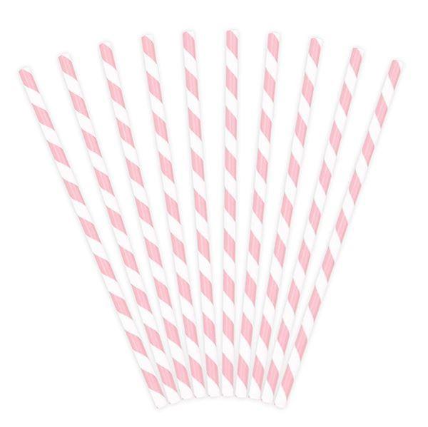 Imagen de Pajitas rayas rosa pastel (10)