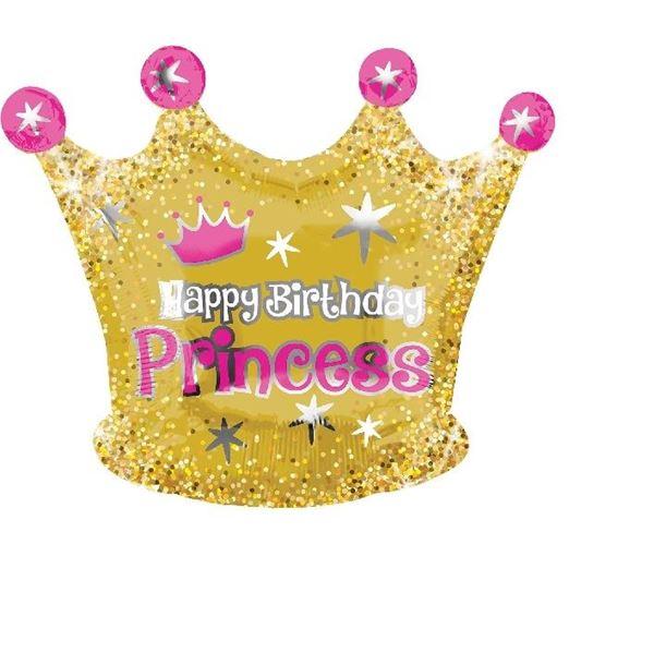 Imagen de Globo corona Princesa Happy Birthday
