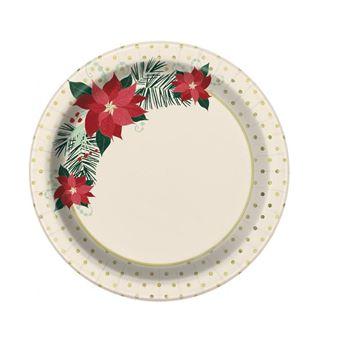 Picture of Platos Poinsettia Navidad pequeños (8)