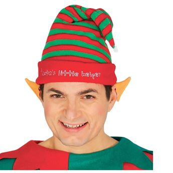 Imagen de Gorro rayas elfo Navidad