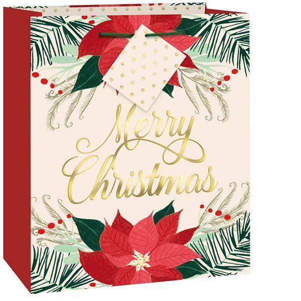 Imagen de Bolsas regalo Poinsettia Navidad