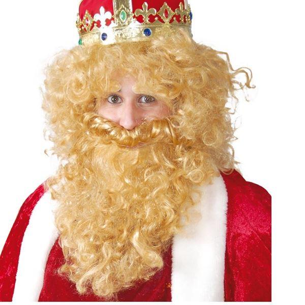 Imagens de Accesorio barba y peluca Rey mago