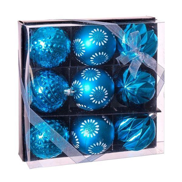 Imagens de Adorno bolas navideñas azules (9)