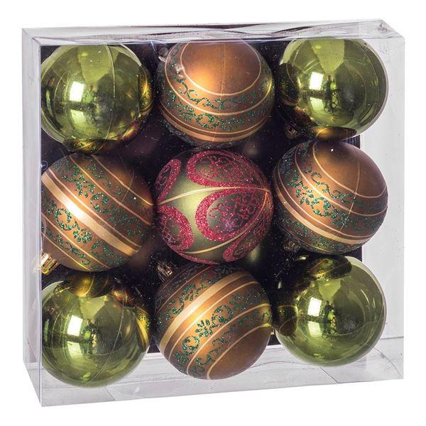 Imagen de Adorno bolas navideñas verdes (9)