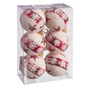 Imagen de Adorno bolas navideñas estrellas (6)