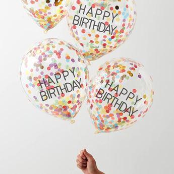 Imagen de Globos Feliz Cumpleaños confeti Arcoiris (5)