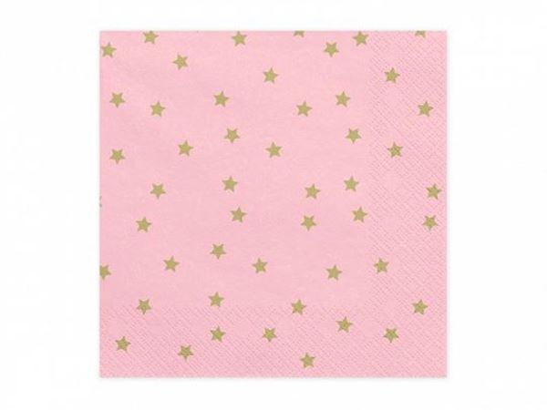 Picture of Servilletas color rosa estrellas (20)