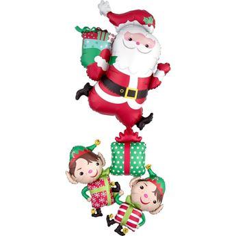 Imagen de Globo Santa Claus con sus Elfos grande