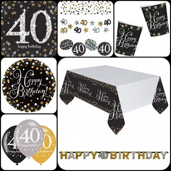 Imagens de Set 40 cumpleaños para 8 personas.