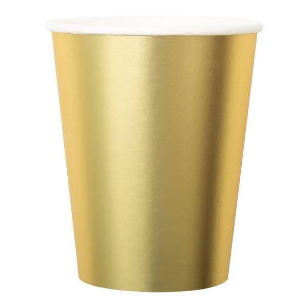 Imagen de Vasos dorados satinados (8)
