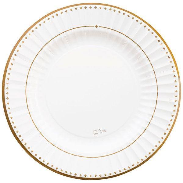 Imagens de Platos elegantes dorados Grace 27cm (8)