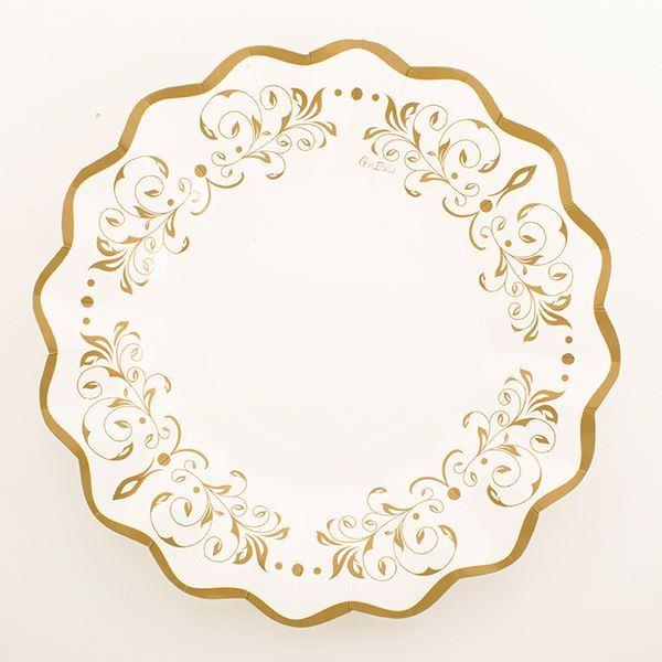 Imagens de Platos dorados imperio decorado 27cm (8)