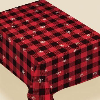 Imagen de Mantel navideño plástico interior franela