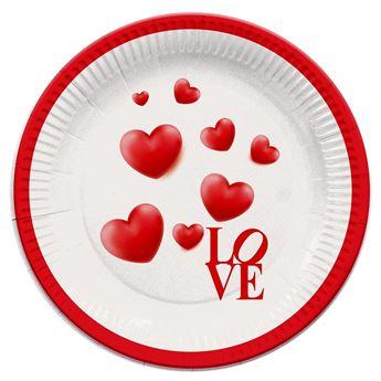 Imagens de Platos Love corazones cartón (8)