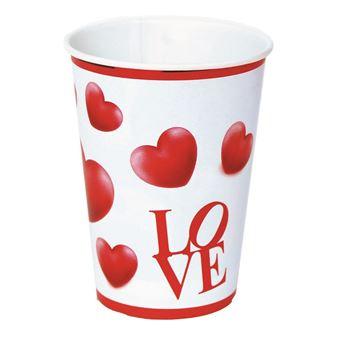 Imagen de Vasos Love corazones cartón (8)