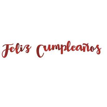Imagen de Guirnalda letras metalizadas Feliz Cumpleaños colores surtidos
