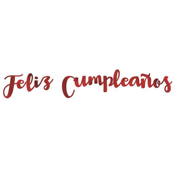 Imagens de Guirnalda letras metalizadas Feliz Cumpleaños colores surtidos