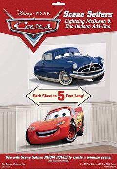 Imagen de Decorados pared Cars Rayo McQueen y Doc Hudson