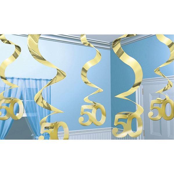 Imagens de Decorados espirales 50 años dorado (5)