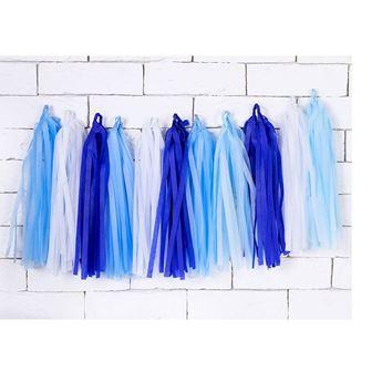 Imagens de Guirnalda borlas tonos azules mix