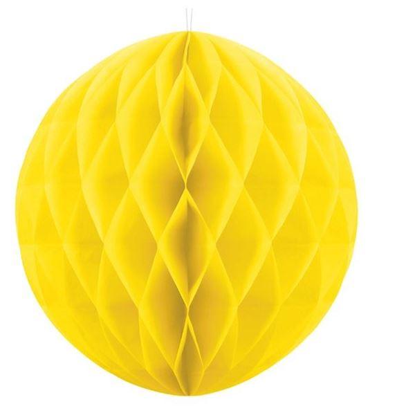 Imagen de Decorados nido de abeja Amarillo (30cm)
