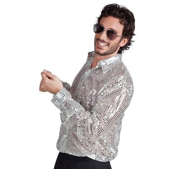 Picture of Disfraz Camisa Disco Plateada (Talla XL)