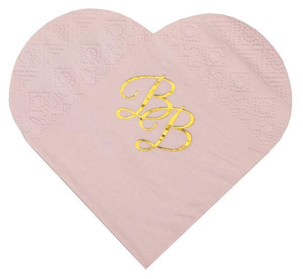 Imagen de Servilletas corazón rosa pequeñas (10)