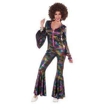 Imagen de Disfraz años 70 disco Mujer multicolor
