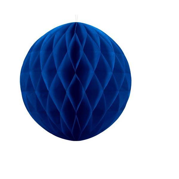 Imagens de Decorado nido de abeja Azul marino (30cm)