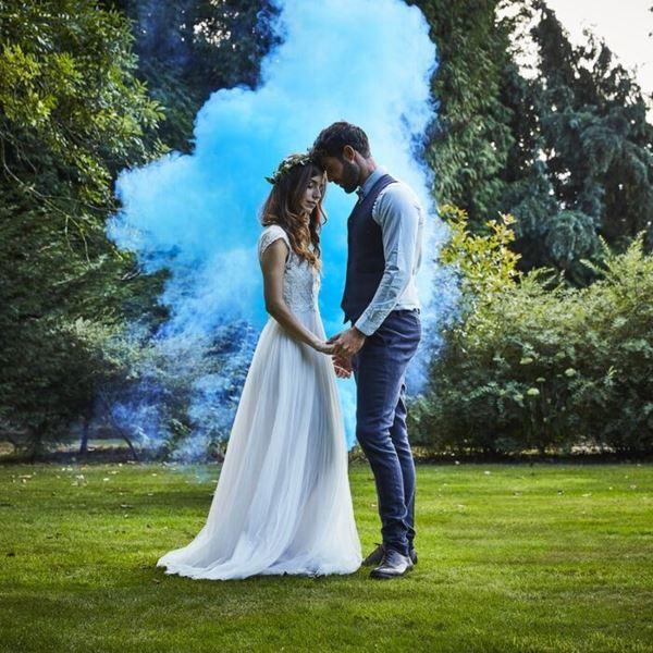 Imagens de Decoración Humo color Azul