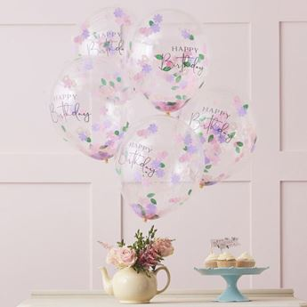Imagen de Globos Floral Feliz cumpleaños (5)