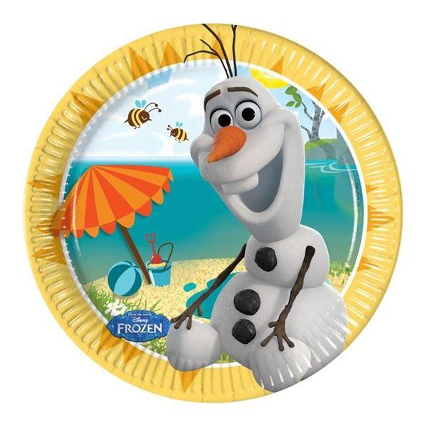 Imagens de Platos Frozen Olaf Disney papel (8)