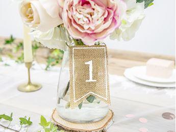 Imagen de Números para mesa yute con blanco (20)