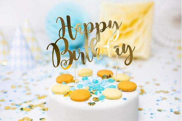 Imagens de Topper tarta Feliz cumpleaños Dorado