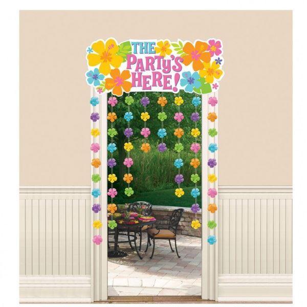 Imagens de Cortina para puerta Hibiscus Tropical