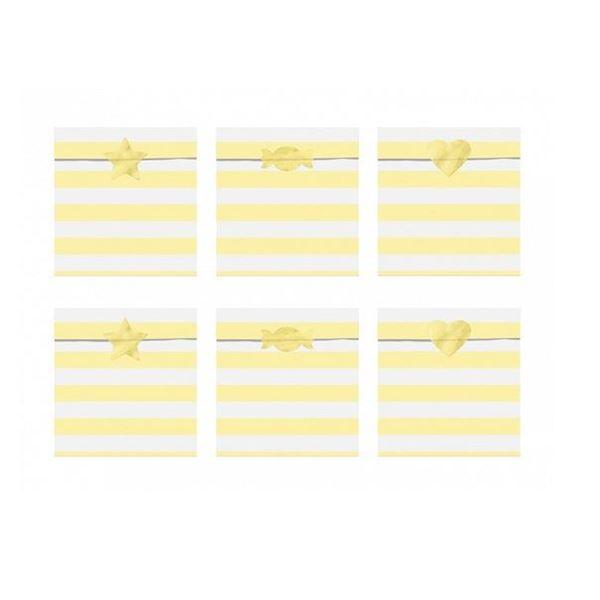 Picture of Bolsitas dulces amarillas pastel papel (6)