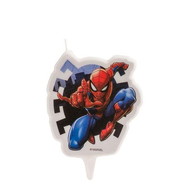 Imagen de Vela Spiderman 2D cumpleaños