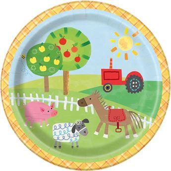 Picture of Platos Fiesta en la granja infantil pequeños (8)