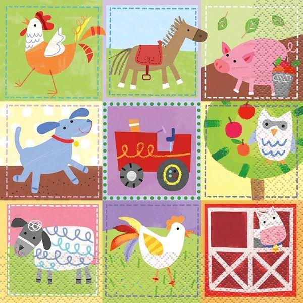 Imagens de Servilletas Fiesta en la granja infantil (16)