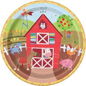 Imagens de Platos Fiesta en la granja infantil grandes (8)