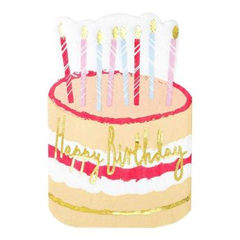 Picture of Servilletas Happy Birthday forma tarta (12)