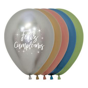 Imagen de Globos Feliz Cumpleaños Réflex Surtidos (12)