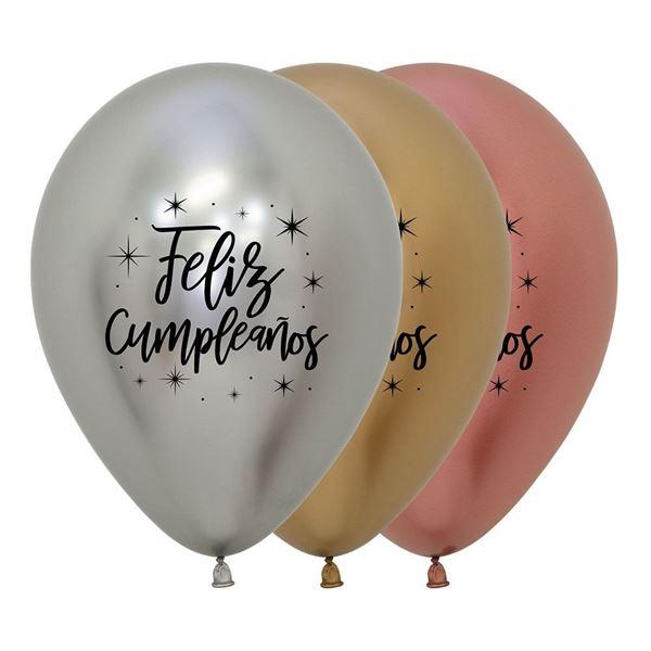 Picture of Globos Feliz Cumpleaños Réflex Deluxe (12)