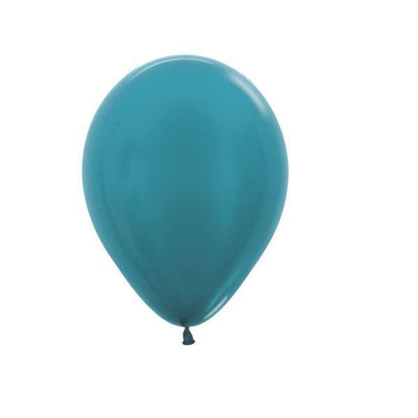 Picture of Globos azul caribe perlados (50)