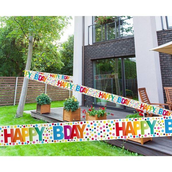 Imagen de Cinta Barrera Feliz Cumpleaños 15m
